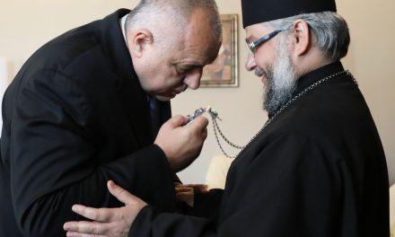 Министър-председателят Бойко Борисов се срещна със Старозагорския митрополит Киприан